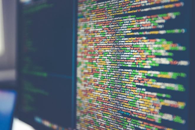 Developer computerscherm met code