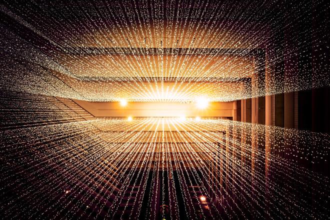 Futuristisch beeld van machine learning